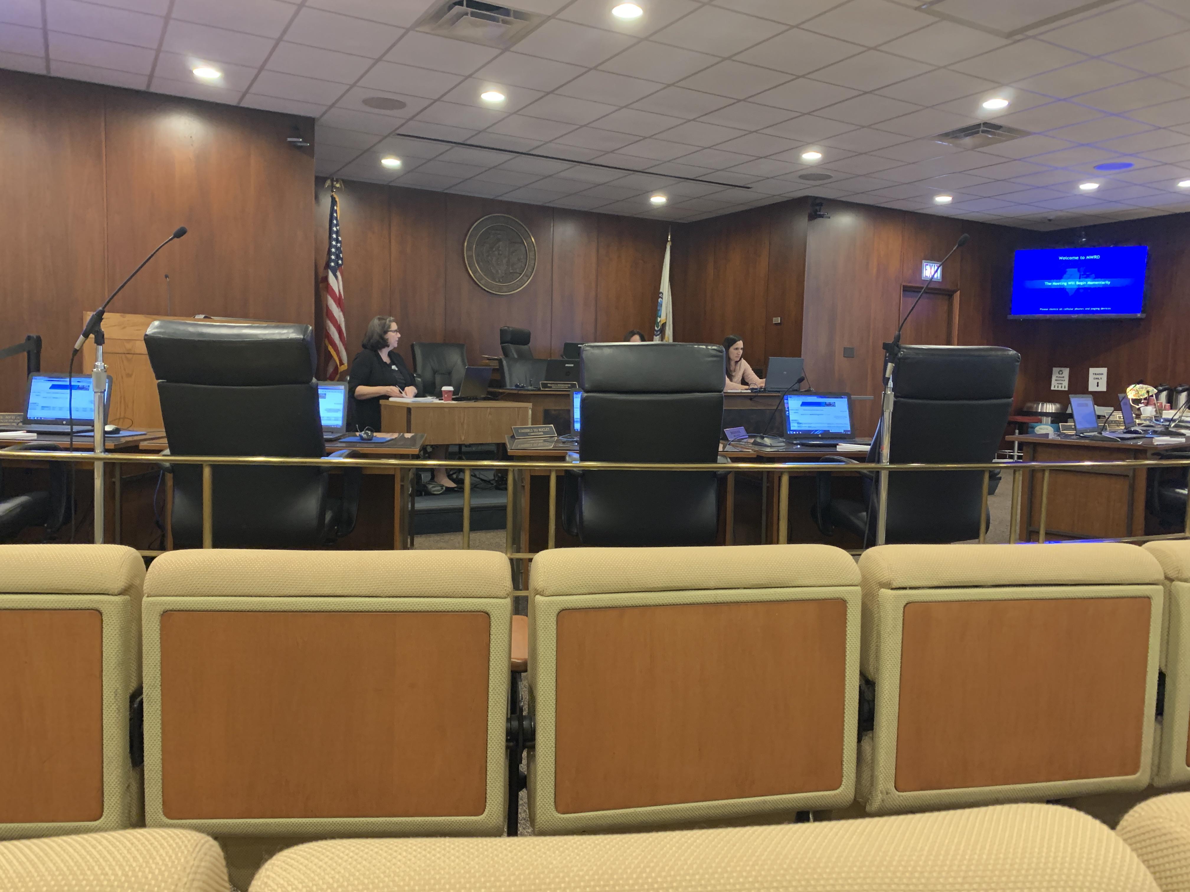 Metropolitan Water Reclamation meeting room